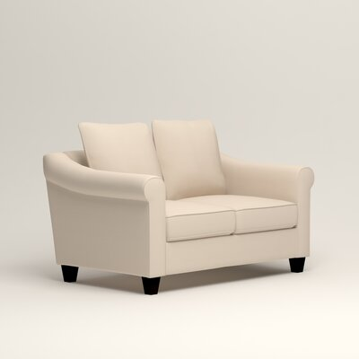 Brooke Loveseat Upholstery: Microsuede Oyster