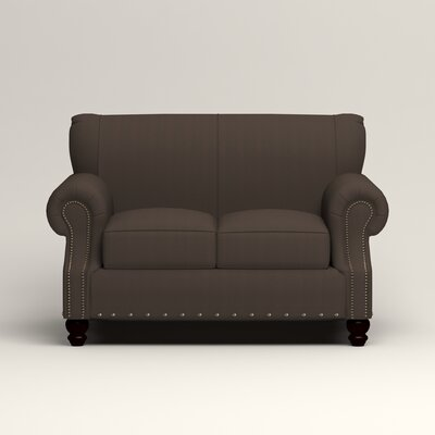 Landry Loveseat Upholstery: Microsuede Charcoal
