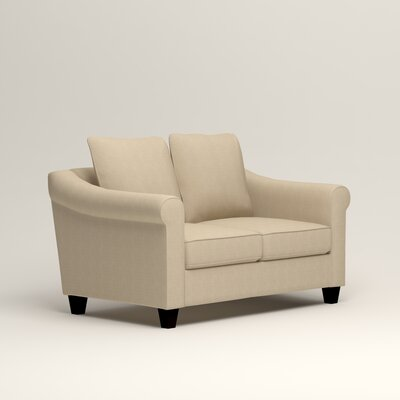 Brooke Loveseat Upholstery: Hilo Flax
