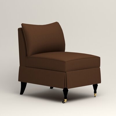 Kendall Slipper Chair Upholstery: Microsuede Chocolate