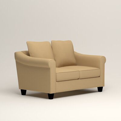 Brooke Loveseat Upholstery: Trillion Saffron