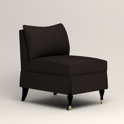 Kendall Slipper Chair Color: Bryant Ebony Textured Slub