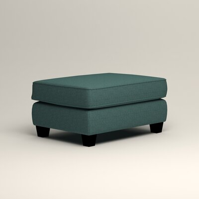 Brooke Ottoman Upholstery: Lizzy Prussian