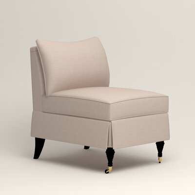 Kendall Slipper Chair Color: Bailey Papyrus Blended Linen