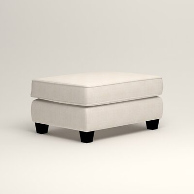Brooke Ottoman Upholstery: Bevin Natural