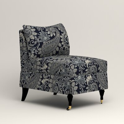 Kendall Slipper Chair Color: Wallace Midnight Paisley