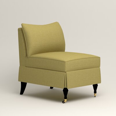 Kendall Slipper Chair Color: Bailey Avocado Blended Linen