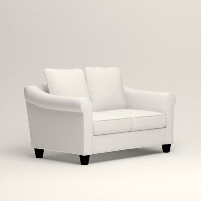Brooke Loveseat Upholstery: Classic Bleach White