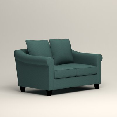 Brooke Loveseat Upholstery: Lizzy Prussian
