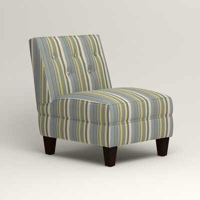 Lesley Slipper Chair Upholstery: Bayou Sunshine