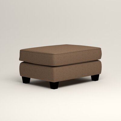 Brooke Ottoman Upholstery: Lizzy Hemp