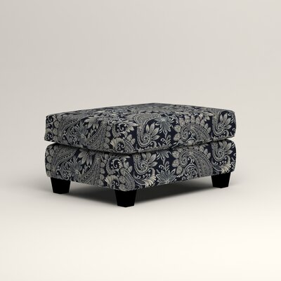 Brooke Ottoman Upholstery: Nadia Denim