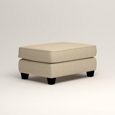 Brooke Ottoman Upholstery: Hilo Flax