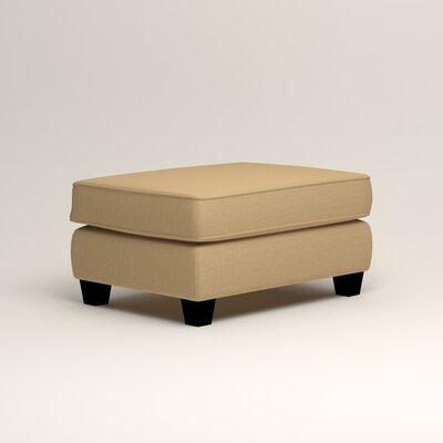 Brooke Ottoman Upholstery: Trillion Saffron