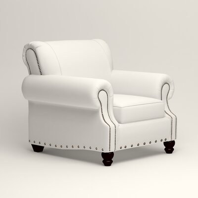 Landry Armchair Upholstery: Classic Bleach White
