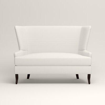 Elliot Settee Upholstery: Classic Bleach White
