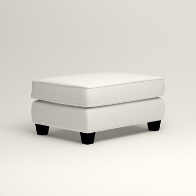Brooke Ottoman Upholstery: Classic Bleach White
