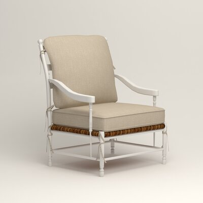 Stephanie Arm Chair Color: Watson Malt Blended Cotton