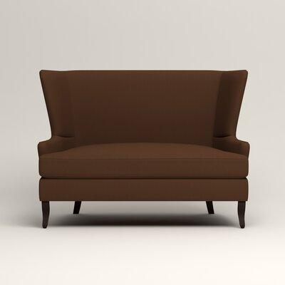 Elliot Settee Upholstery: Jackson Coffee Microsuede
