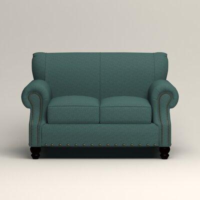 Landry Loveseat Upholstery: Lizzy Prussian