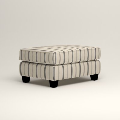 Brooke Ottoman Upholstery: Mcallister Indigo