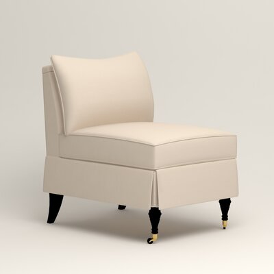 Kendall Slipper Chair Color: Jackson Oyster Microsuede