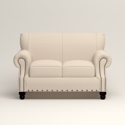 Landry Loveseat Upholstery: Microsuede Oyster