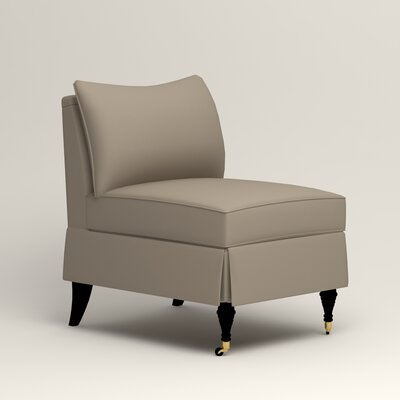 Kendall Slipper Chair Color: Jemma Silver Mist