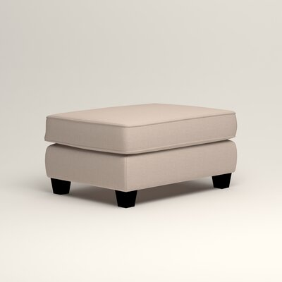 Brooke Ottoman Upholstery: Lizzy Linen
