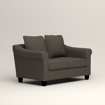 Brooke Loveseat Upholstery: Lizzy Graphite
