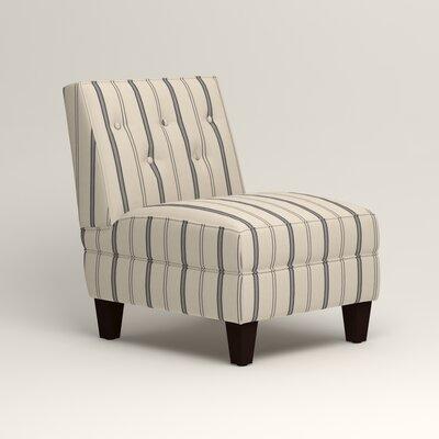 Lesley Slipper Chair Upholstery: Mcallister Indigo