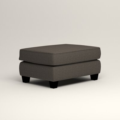 Brooke Ottoman Upholstery: Lizzy Graphite