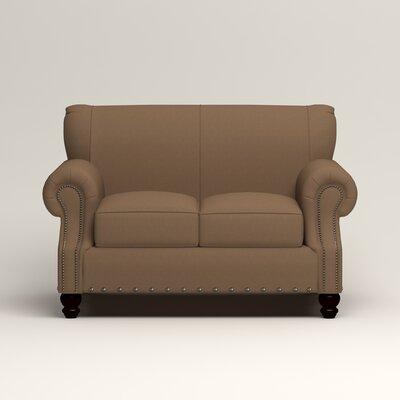 Landry Loveseat Upholstery: Microsuede Cappucino