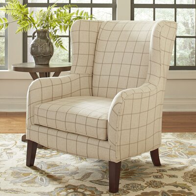 Easton Wingback Chair Color: Burnham Parchment Windowpane