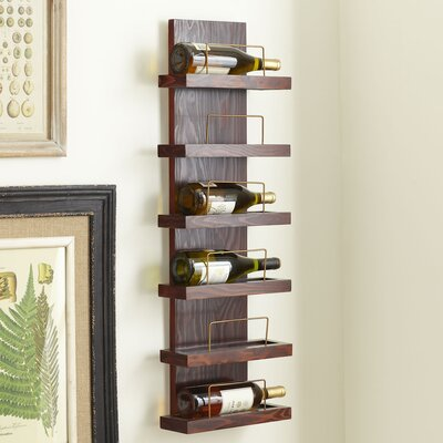 Cooperstown 6 Bottle Wall Mounted Wine Rack