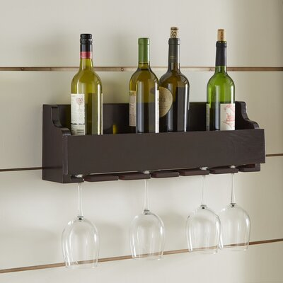 Fraisier 6 Bottle Wall Mounted Wine Rack