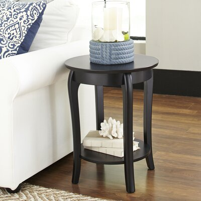 Alberts Round Side Table Color: Black