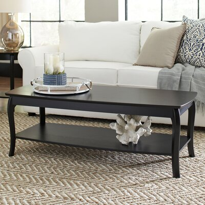 Alberts Rectangular Coffee Table Finish: Black