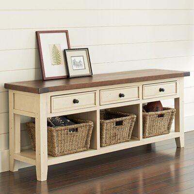 TV Console with Baskets Finish: Country White/Oxford