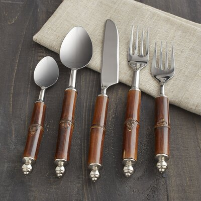Crusoe 5-Piece Bamboo Flatware Set