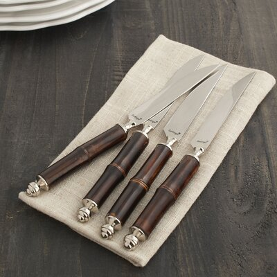 Crusoe Bamboo Steak Knife Set