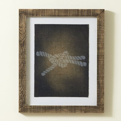 Knot Stamped Framed Print