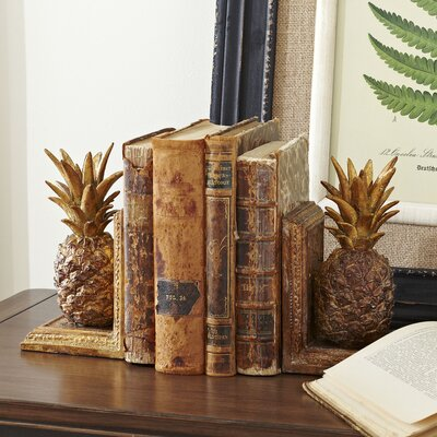 Antiqued Pineapple Bookends
