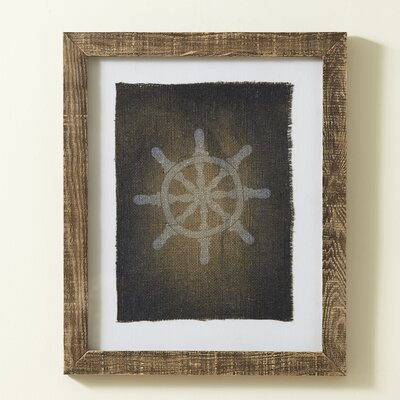 Captain's Wheel Stamped Framed Print
