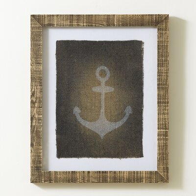Anchor Stamped Framed Print