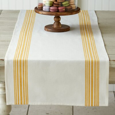 Magdelene Striped Runner Color: Yellow
