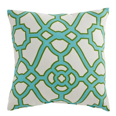 Manila Outdoor Pillow Color: Teal