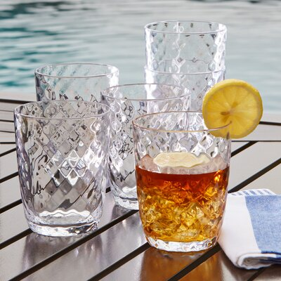Granada Plastic Double Old-Fashioned Glasses Color: Clear