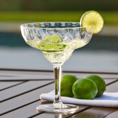 Granada Plastic Margarita Glasses Color: Clear