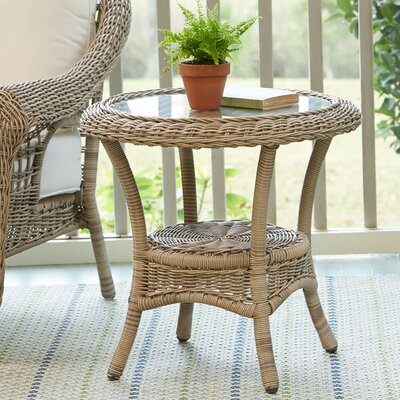 Lynwood Wicker Side Table